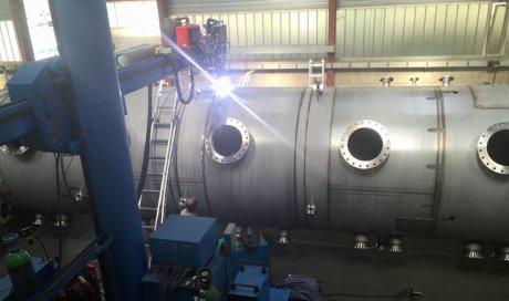 Entreprise de chaudronnerie pour soudage de cuve inox automatisé plasma en Isère