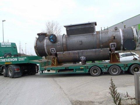 Transport d'un échangeur en Acier Isère