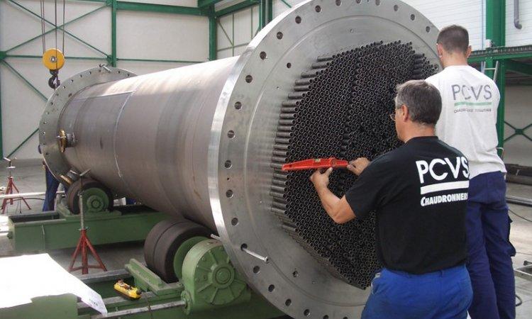 PCVS Chaudronnerie Fabrication d'échangeur tubulaire Isère
